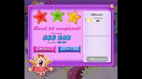 Candy Crush Saga Dreamworld Level 35 ★★★ 3 Stars