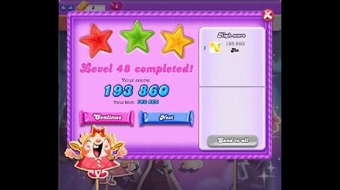 Candy Crush Saga Dreamworld Level 48 ★★★ 3 Stars