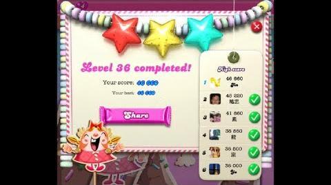 Candy Crush Saga Level 36 ★★★ 46 660 points