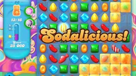Candy Crush Soda Saga Level 86 (nerfed, 3 Stars)