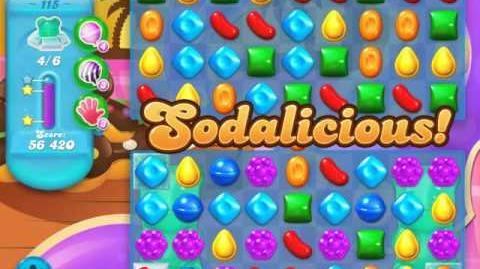 Candy Crush Soda Saga Level 115 (7th version, 3 Stars)
