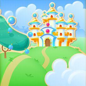 Cotton Candy Castle Background