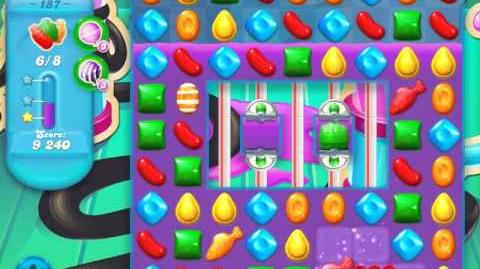 Candy Crush Soda Saga Level 187 (nerfed, 3 Stars)