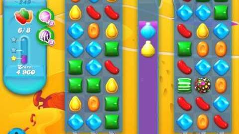 Candy Crush Soda Saga Level 249 (nerfed, 3 Stars)