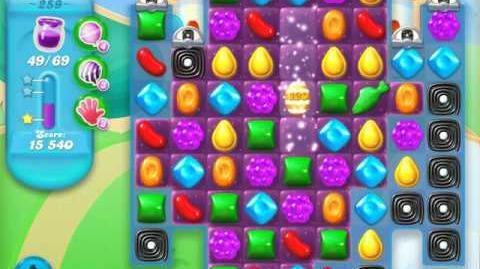 Candy Crush Soda Saga Level 259 (2nd nerfed, 3 Stars)
