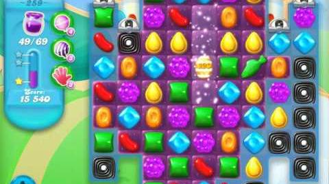 Candy Crush Soda Saga Level 259 (2nd nerfed, 3 Stars)