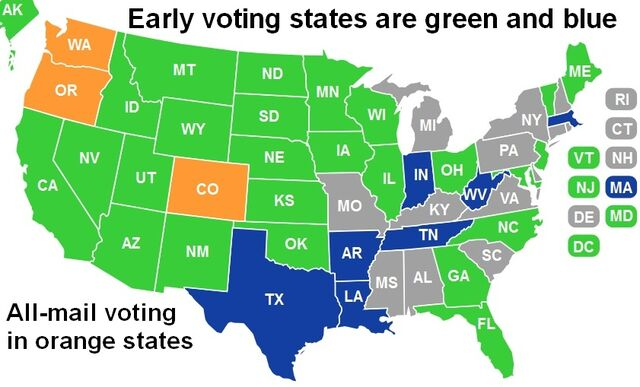 File:US map 2. Early voting states are green and blue.jpg