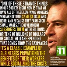 Privatizing the profits, and socializing the costs