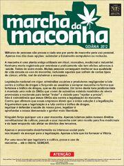 Goiania Brazil. Marcha da Maconha