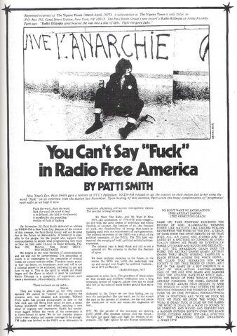 File:Patti Smith 1977 You Can't Say Fuck in Radio Free America.jpg