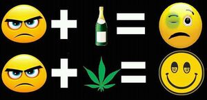 Happy cannabis. Alcohol black eye
