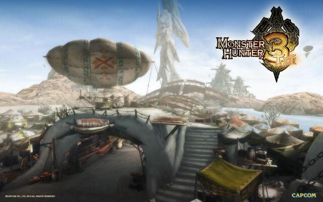 File:Monster Hunter 3 Tri wallpaper cityscape.jpg