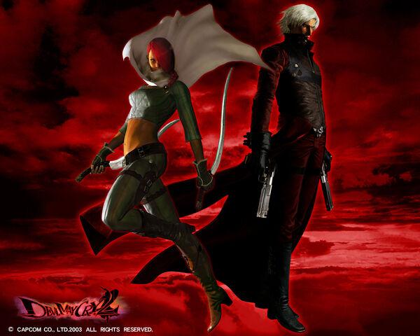 File:Dante & Lucia wallpaper - Devil May Cry 2.jpg