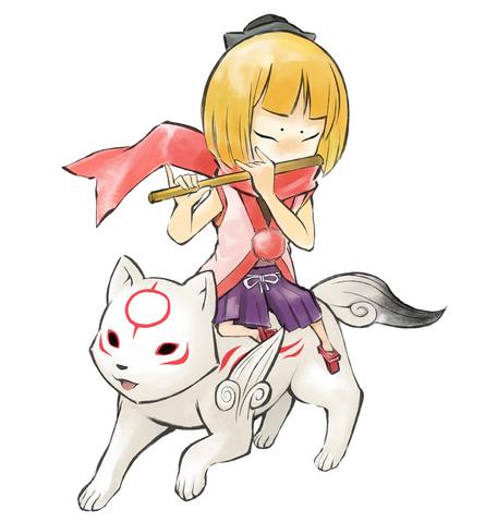 File:Kurow and Chibiterasu.png