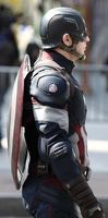 Captain America AoU On Set Side View