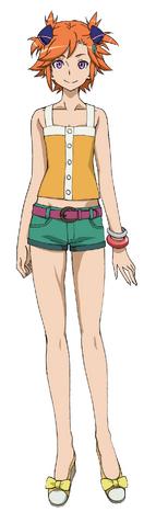 File:Captain Earth Wiki - Character - Akari Yomatsuri - Casual.png
