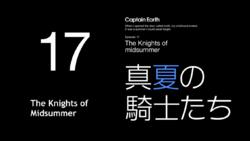 Episode 17 - Knights of Midsummer - Title Slate