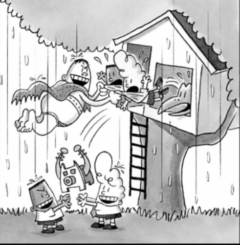 File:Captain Blunderpants Evil boys Harold and George catch thier good counterparts in the act of a plan..png