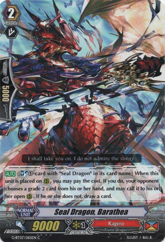 Seal Dragon, Barathea   Cardfight!! Vanguard Wiki   FANDOM ...