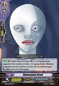 Mannequin head card