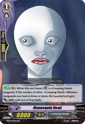 Mannequin head card