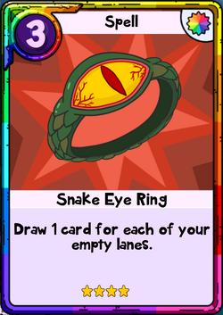 Snake Eye Ring