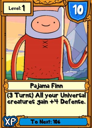 Pajama Finn Hero Card