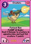 Furious hen