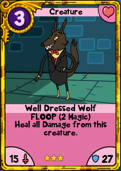 Well Dressed Wolf Gold