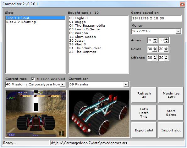 Carmeditor 2 v0.2.0.1