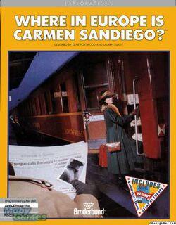 Where in Europe is Carmen Sandiego Boxart