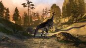 Parasaurolophus alarmed