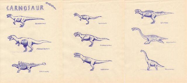 File:Carnosaur species by isla nublar crew.jpg