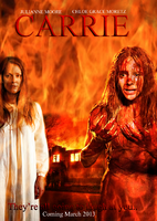 Carrie 2013 movie poster by iclethea-d5cnv3t6