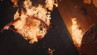 Tina on fire
