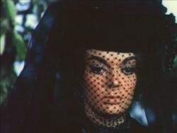 Samaniega with funeral veil