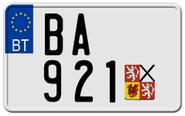 Motorcycle license plate Brunant