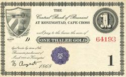 1 Thaler 1868