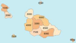 Postal code map