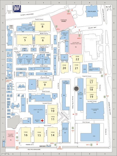 Fox studios lot map small