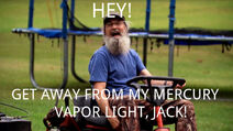 Si Robertson funny light meme.