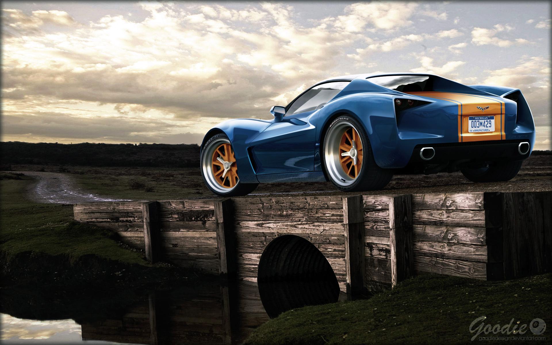 Corvette Stingray Retro by GoodieDesign-1-
