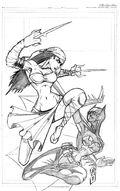 Elektra V Batgirl by JazzRy