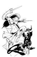 Elektra Batgirl inks by madman1