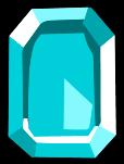 Square Blue Gem