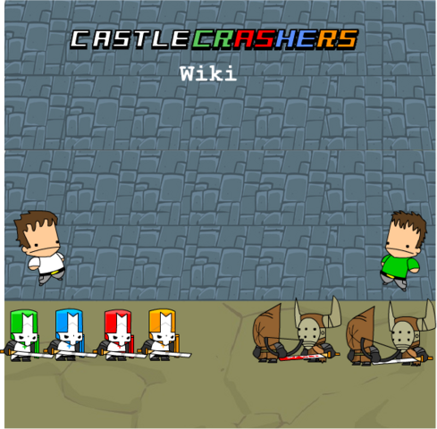 File:Castle Crashers wiki poster 1.png
