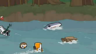 Shark n' raft