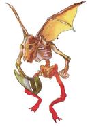 Super Castlevania IV - Flying Skeleton