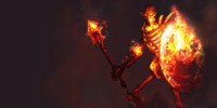 Flaming Skeleton Warrior