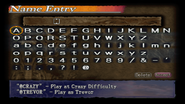 Curse of Darkness - Name Entry Screen - 01